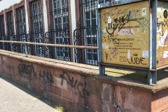Graffitientfernung vorher